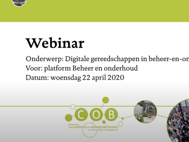 webinar digitale gereedschappen